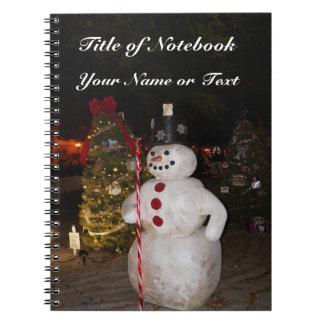 Snowman & Christmas Tree Notebook