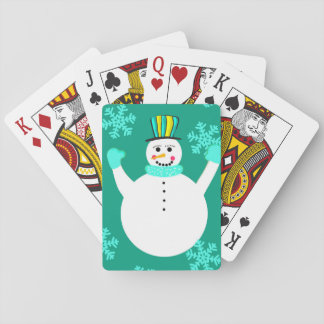 Snowman Classic Playing Cards