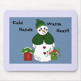 Snowman - Cold Hands, Warm Heart Mouse Mat
