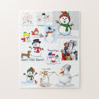 """Snowman Cold"" Outside Jigsaw Puzzle"