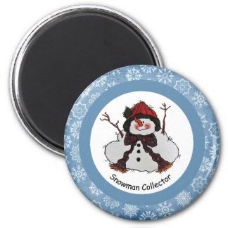 Snowman Collector  Magnet