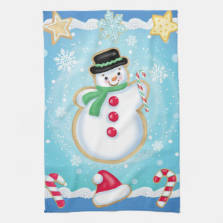 Snowman Cookie Kitchen Towel