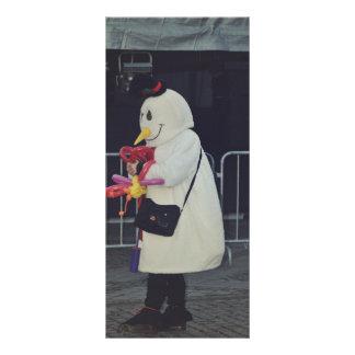 Snowman costume rack card