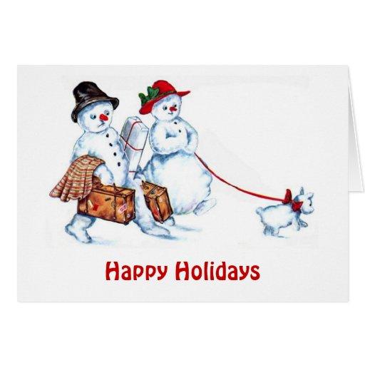 Snowman Couple Card