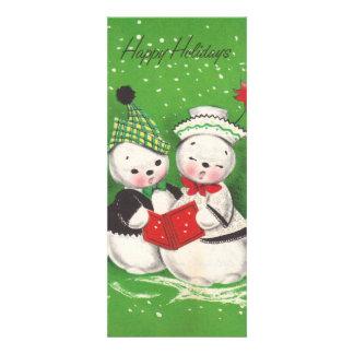 Snowman Couple Flat Christmas Card