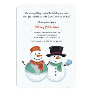 Snowman Couple Invitation