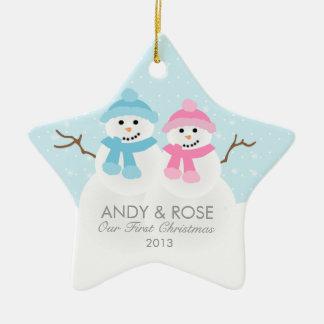 Snowman Couple Ornament