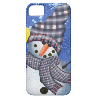 Snowman Crescent Moon and Snowflake iPhone 5 Cover