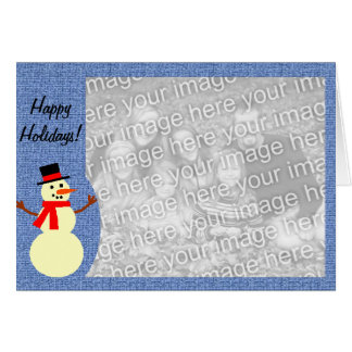 Snowman custom photo card