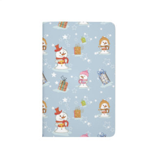 Snowman Cute Adorable Winter Pattern Design Gifts Journal