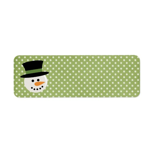 SNOWMAN CUTE FACE ADDRESS LABELS