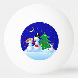 Snowman Dancing Ping Pong Ball