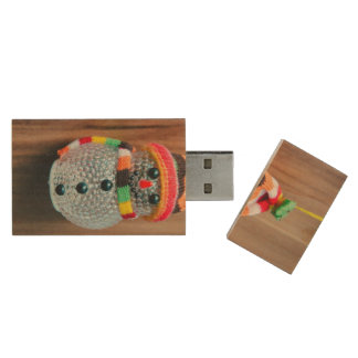 Snowman decoration wood USB 2.0 flash drive