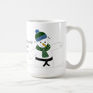 Snowman Doing Mixed Martial Arts Basic White Mug