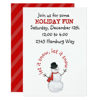 Snowman Editable Invitation