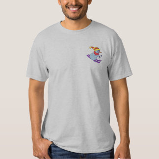 Snowman Embroidered T-Shirt