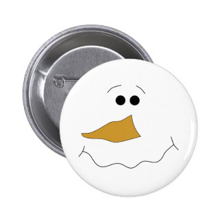 Snowman Face 6 Cm Round Badge