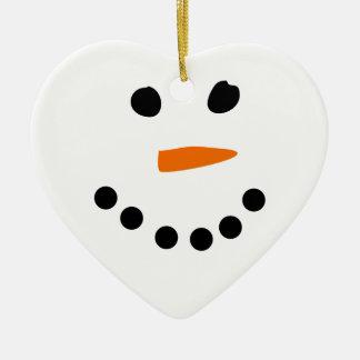 Snowman Face Christmas Ornament