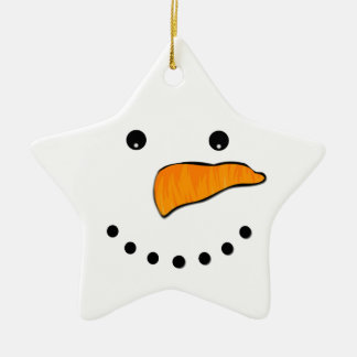 Snowman Face Christmas Ornament