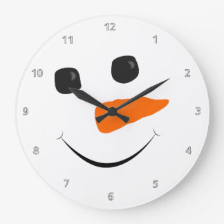 Snowman Face Large Clock