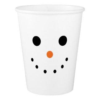 Snowman Face Paper Cups