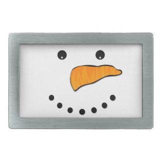 Snowman Face Rectangular Belt Buckle