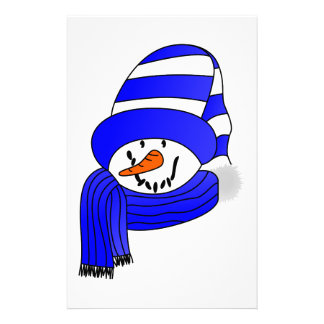 Snowman Face Stationery Paper