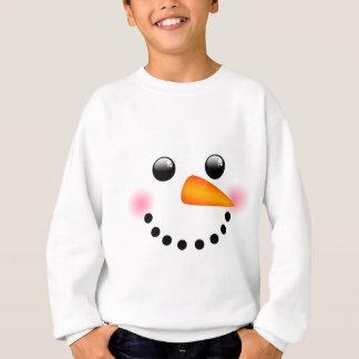 Snowman face sweatshirt