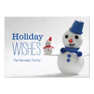 Snowman Family 13 Cm X 18 Cm Invitation Card