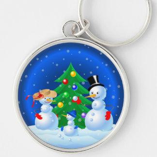 Snowman Family Keychains
