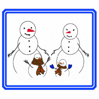 Snowman Family Acrylic Cut Outs