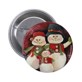 Snowman Family - pin