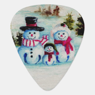 Snowman Family Plectrum