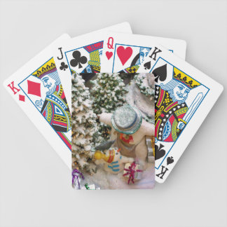 Snowman family poker deck