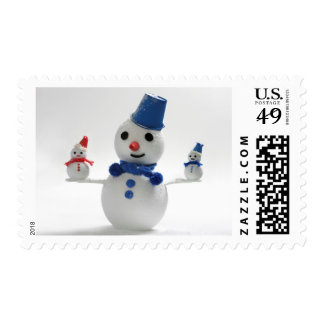 Snowman Family Stamp