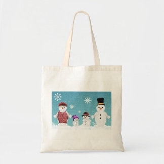 Snowman Family Tote Bag