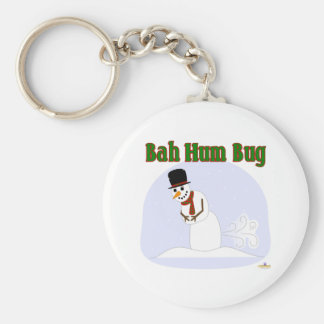 Snowman Farting Bah Hum Bug Green Key Chain