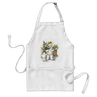 Snowman Father and Son Standard Apron