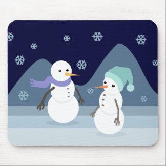 Snowman Friends Mouse Pad