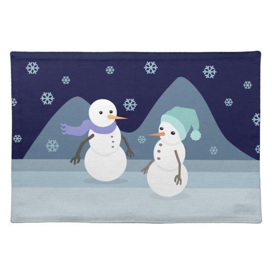 Snowman Friends Placemats
