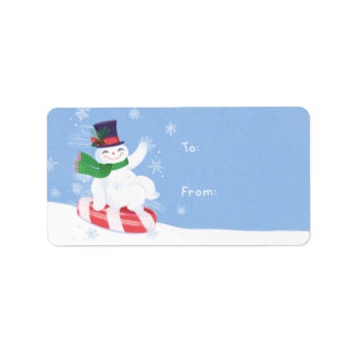 Snowman Gift Address Label