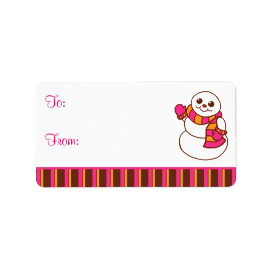 Snowman Gift Tag Labels