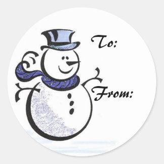 Snowman Gift Tag Sticker