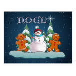 SNOWMAN & GINGERBREAD KIDS by SHARON SHARPE Postcards