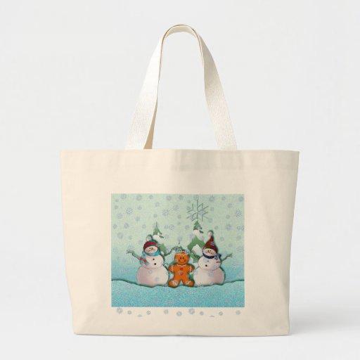 SNOWMAN & GINGERBREAD MAN by SHARON SHARPE Bag