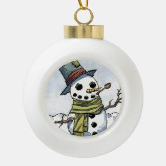 Snowman - Globe Ornament