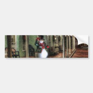 Snowman Greetings Bumper Sticker