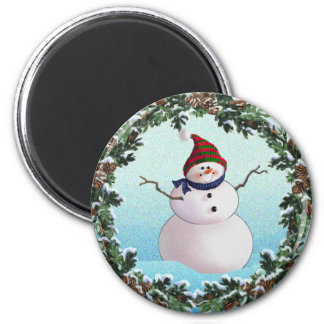 SNOWMAN & HATS by SHARON SHARPE Magnet