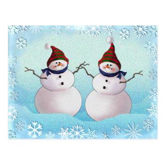 SNOWMAN & HATS by SHARON SHARPE Postcard
