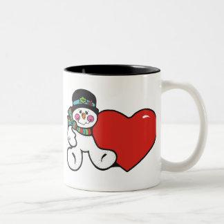 Snowman Heart mug